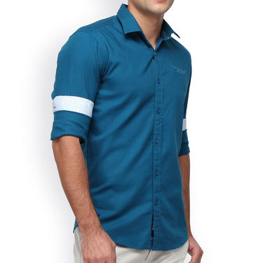 Crosscreek Full Sleeves Cotton Casual Shirt_1180312F - Blue