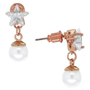 Spargz Earring Studded With Star Diamond_Aier230 - White