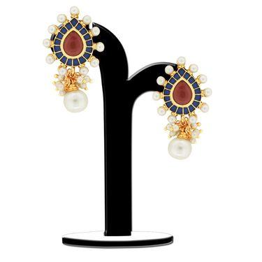Spargz Tear Drop Studded Pearl Earring_Aier361 - Multicolor