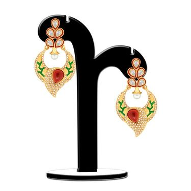 Spargz Earring With Kundan & Pearl_Aier371 - Multicolor