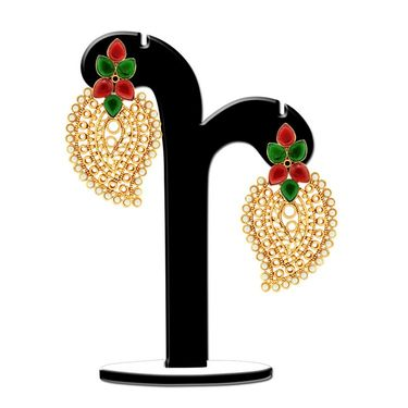 Spargz Paisely Design Pearl Earring_Aier376 - Multicolor