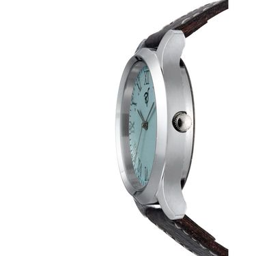 Rico Sordi Analog Round Dial Watch For Men_Rsmwl93 - Sky Blue