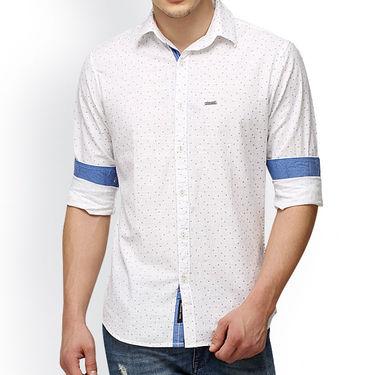 Crosscreek Printed Casual Shirt_1060306 - White