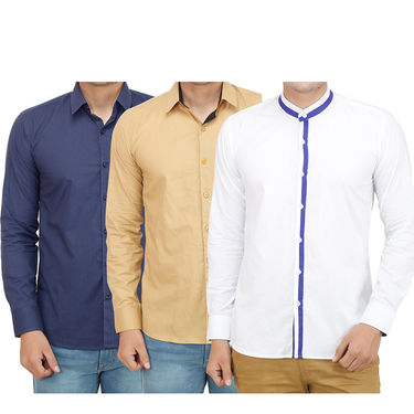 Pack of 3 Casual Shirts For Men_16018021
