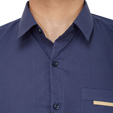 Branded Casual Shirt For Men_Nvp018 - Navy Blue