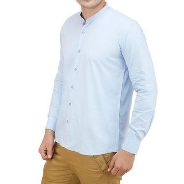 Branded Casual Shirt For Men_Sbp020 - Sky Blue