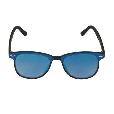 Swiss Design Wayfarer Plastic Sunglass For Unisex_S18276blbk - Blue