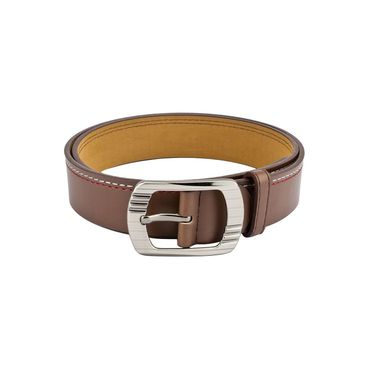 Mango People Leatherite Casual Belt For Men_Mp110br - Brown