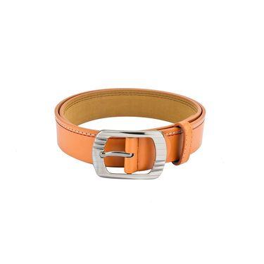 Mango People Leatherite Casual Belt For Men_Mp110tn - Tan