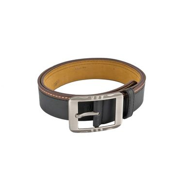 Mango People Leatherite Casual Belt For Men_Mp112bk - Black