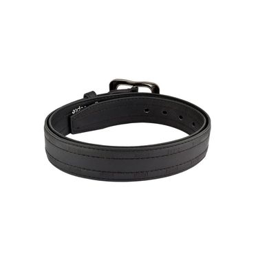 Mango People Leatherite Casual Belt For Men_Mp120bk - Black