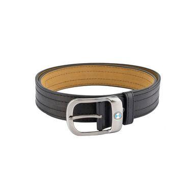Mango People Leatherite Casual Belt For Men_Mp122bk - Black