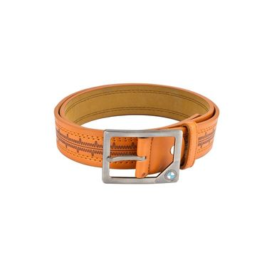Mango People Leatherite Casual Belt For Men_Mp123tn - Tan