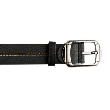 Mango People Leatherite Casual Belt For Men_Mp124bk - Black