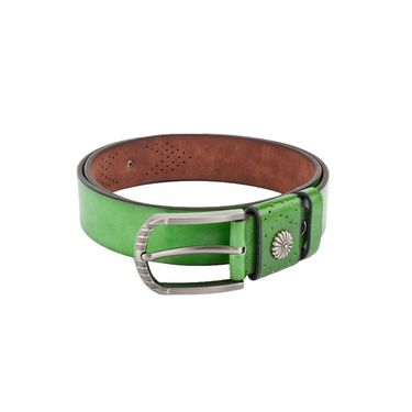 Swiss Design Leatherite Casual Belt For Men_Sd01gr - Green