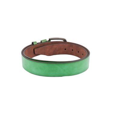 Swiss Design Leatherite Casual Belt For Men_Sd02gr - Green