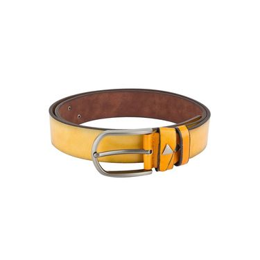 Swiss Design Leatherite Casual Belt For Men_Sd03yl - Yellow