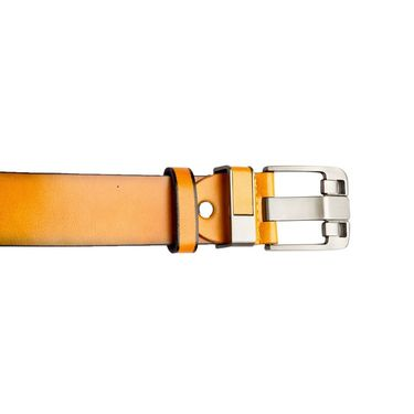 Swiss Design Leatherite Casual Belt For Men_Sd04yl - Yellow
