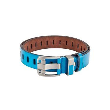 Swiss Design Leatherite Casual Belt For Men_Sd04bl - Blue