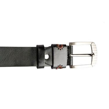 Swiss Design Leatherite Casual Belt For Men_Sd104blk - Black