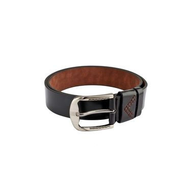 Swiss Design Leatherite Casual Belt For Men_Sd109blk - Black