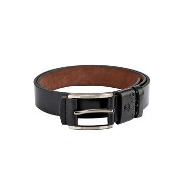 Swiss Design Leatherite Casual Belt For Men_Sd110blk - Black