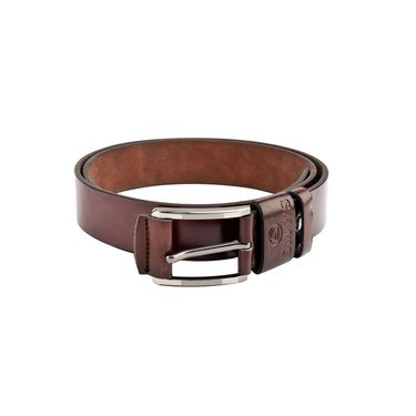 Swiss Design Leatherite Casual Belt For Men_Sd110br - Brown