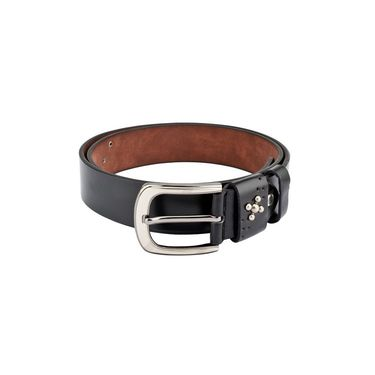 Swiss Design Leatherite Casual Belt For Men_Sd117blk - Black