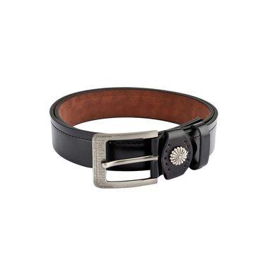 Swiss Design Leatherite Casual Belt For Men_Sd118blk - Black