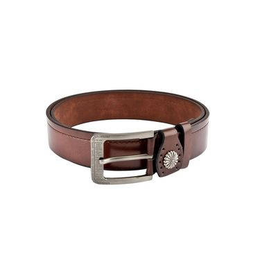 Swiss Design Leatherite Casual Belt For Men_Sd118br - Brown