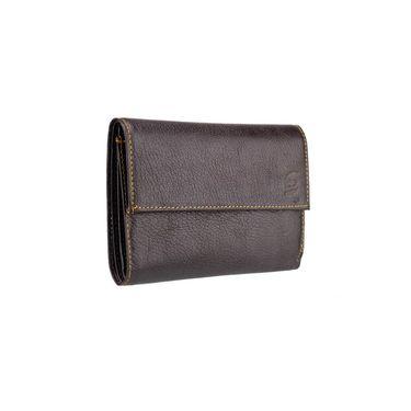 Swiss Design Stylish Wallet For Men_Sdtw15650br - Dark Brown