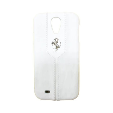 Ferrari Back Cover for Samsung Galaxy S4 ( White)