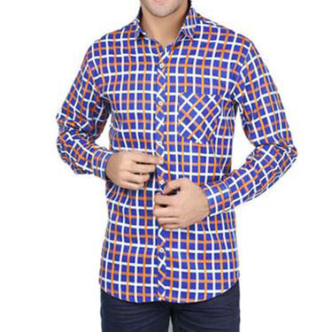Brohood Slim Fit Full Sleeve Cotton Shirt For Men_A50121 - Multicolor