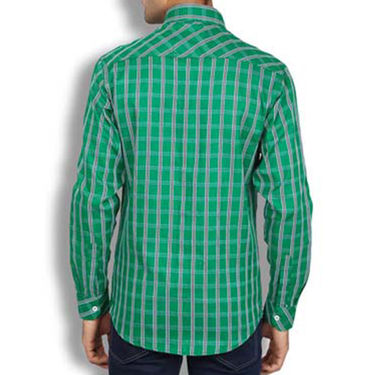 Brohood Slim Fit Full Sleeve Cotton Shirt For Men_A50129 - Green