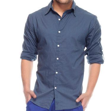 Mind The Gap Full Sleeves Shirt For Men_S7078 - Navy