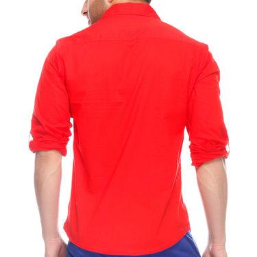 Mind The Gap Full Sleeves Shirt For Men_S7098 - Red