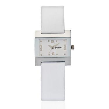 Oleva Analog Wrist Watch For Women_Olw4w - White