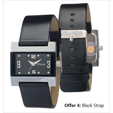 Oleva Analog Wrist Watch For Women_Olw4b - Black