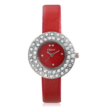 Oleva Analog Wrist Watch For Women_Olw16r - Red
