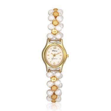 Oleva Analog Wrist Watch For Women_Opw1wg - White