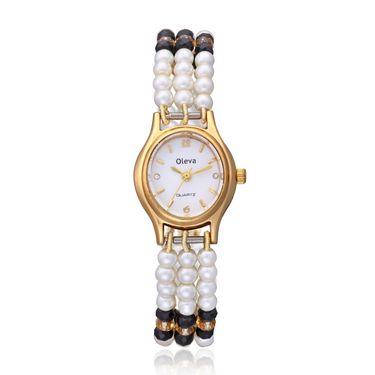 Oleva Analog Wrist Watch For Women_Opw97 - White