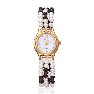 Oleva Analog Wrist Watch For Women_Opw102 - White
