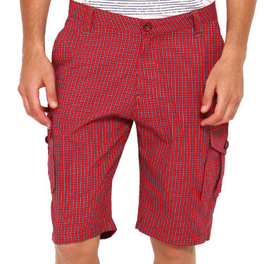 Pack of 2 Wajbee Cotton Cargo Shorts For Men_Combo1