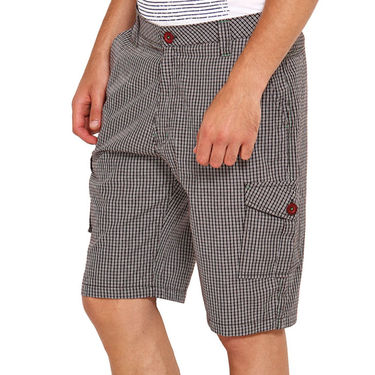 Pack of 2 Wajbee Cotton Cargo Shorts For Men_Combo2