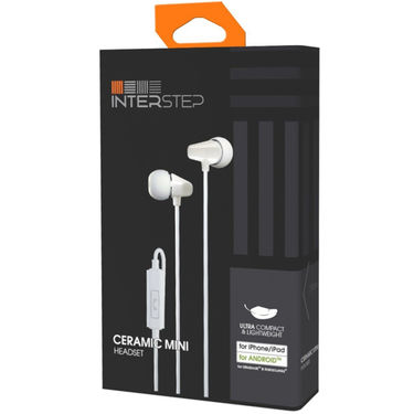 INTERSTEP CERAMIC ONE MINI HEADSET Stereo Wired Headphones - White