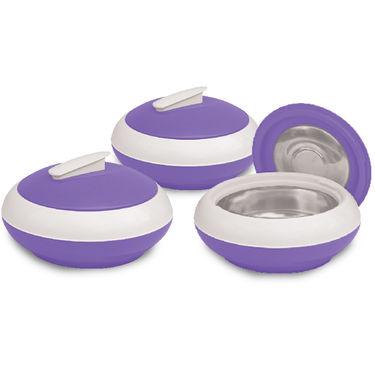 Princeware Casserole Set Of 3-Violet