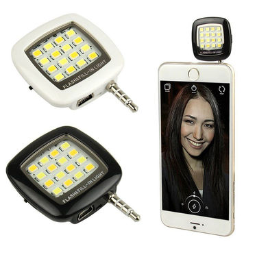 Shutterbugs Portable Mini 16 LED Selfie Flash Light (Assorted)
