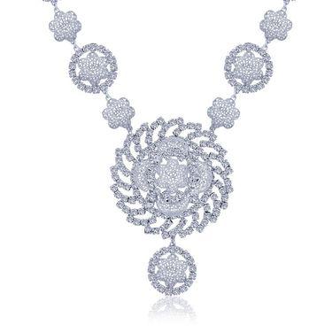Spargz Brass Metal Necklace Set_Ains085