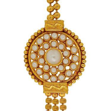 Spargz Brass Metal Necklace Set_Ains095