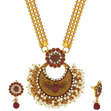Spargz Brass Metal Necklace Set_Ains097